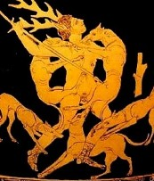 Actaeon turned into a deer and eaten by his hounds